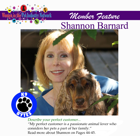 Shannon Barnard's Member Feature - Winter 2017 Top Women in the Pet Industry Magazine