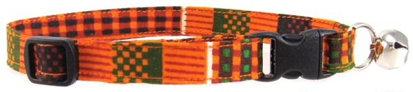 African Kente Print Cat Collar