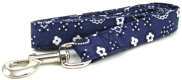 Dark Blue Bandana Dog Leash