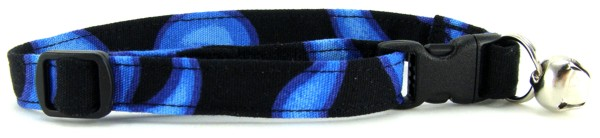 Blue Flames Cat Collar