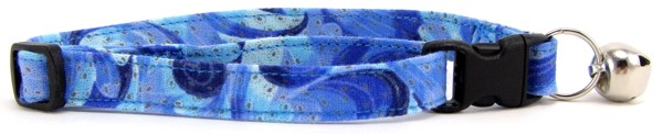 Blue Swirl Cat Collar