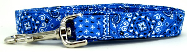 Bright Blue Bandana Dog Leash