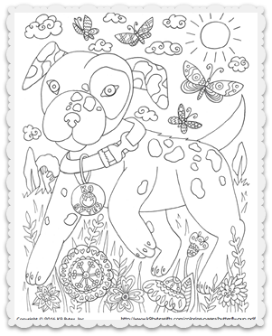 Free coloring page ~ Butterfly Pup