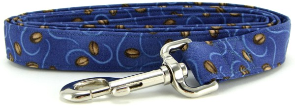 Coffee Beans on Blue Dog Leash