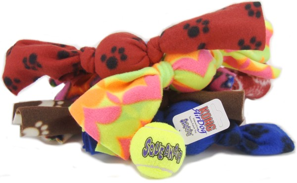 Fleecy balls dog toy