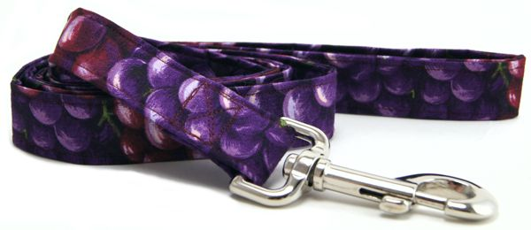Purple Grapes Dog Leash