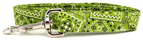 Lime Green Bandana Dog Leash