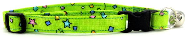 Lime Green Celebration Cat Collar