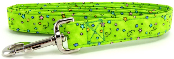 Lime Green Celebration Dog Leash