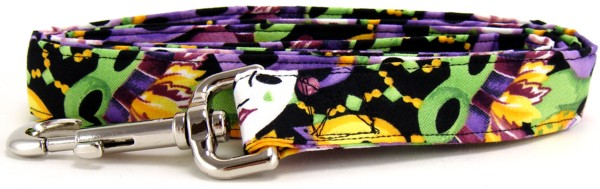 Mardi Gras Masks Dog Leash