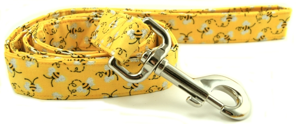 Metallic Bumble Bees Dog Leash