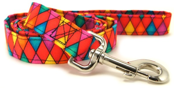 Multi-Color Harlequin Dog Leash