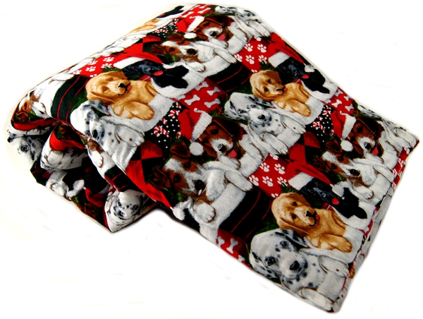 Christmas Stocking Puppy Pet Blanket