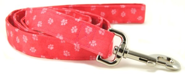 Pink Paws Dog Leash