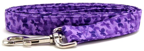 Purple Butterflies Dog Leash