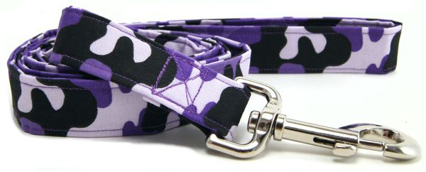 Purple Camo Dog Leash