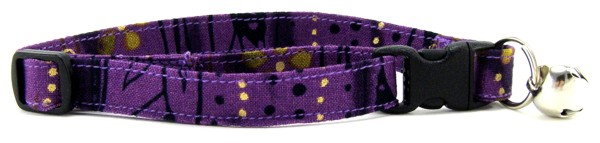 Purple Stripe Batik Cat Collar