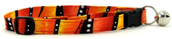 Red Hot Stripes Cat Collar