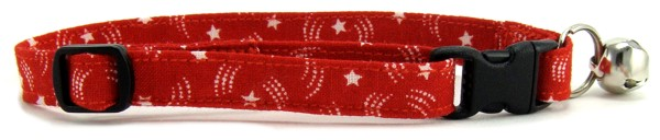 Red Stars Cat Collar