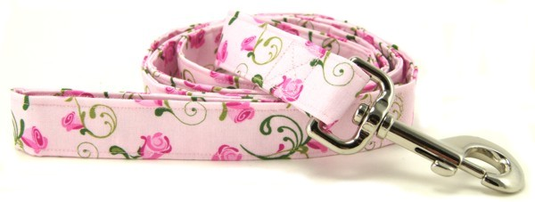 Pink Rosebud Dog Leash