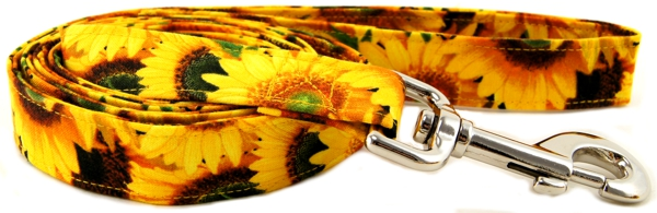 Sunny Sunflowers Dog Leash