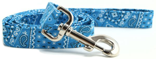 Turquoise Bandana Dog Leash