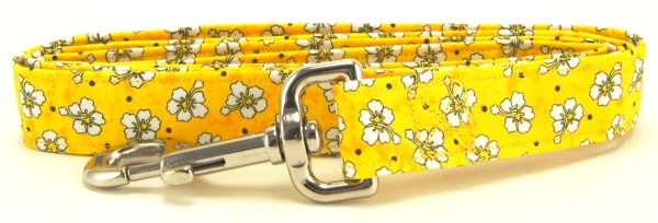 Yellow Hawaiian Flowers Dog Leash
