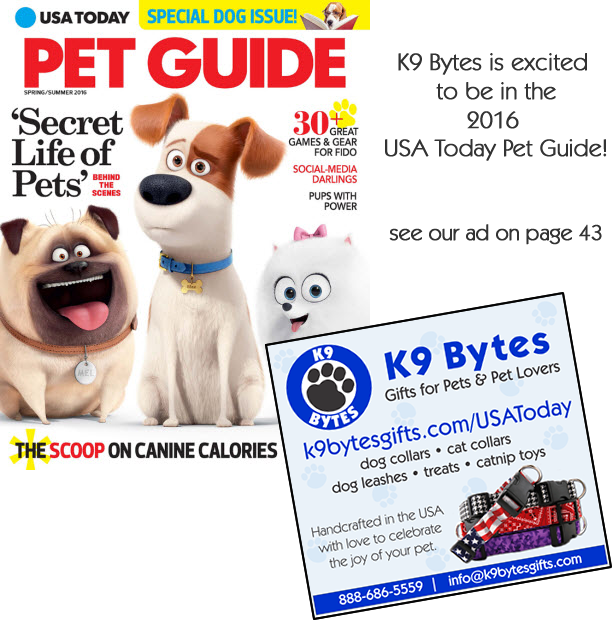 K9 Bytes ad in the 2016 USA Today Pet Guide