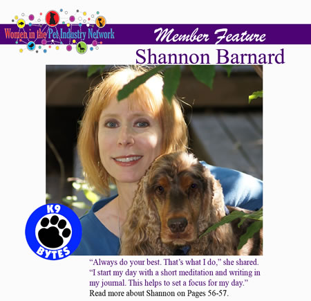 Shannon Barnard's Member Feature - Winter 2016 Top Women in the Pet Industry Magazine