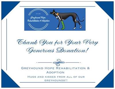 Greyhound Hope Rehabilitation and Adoption